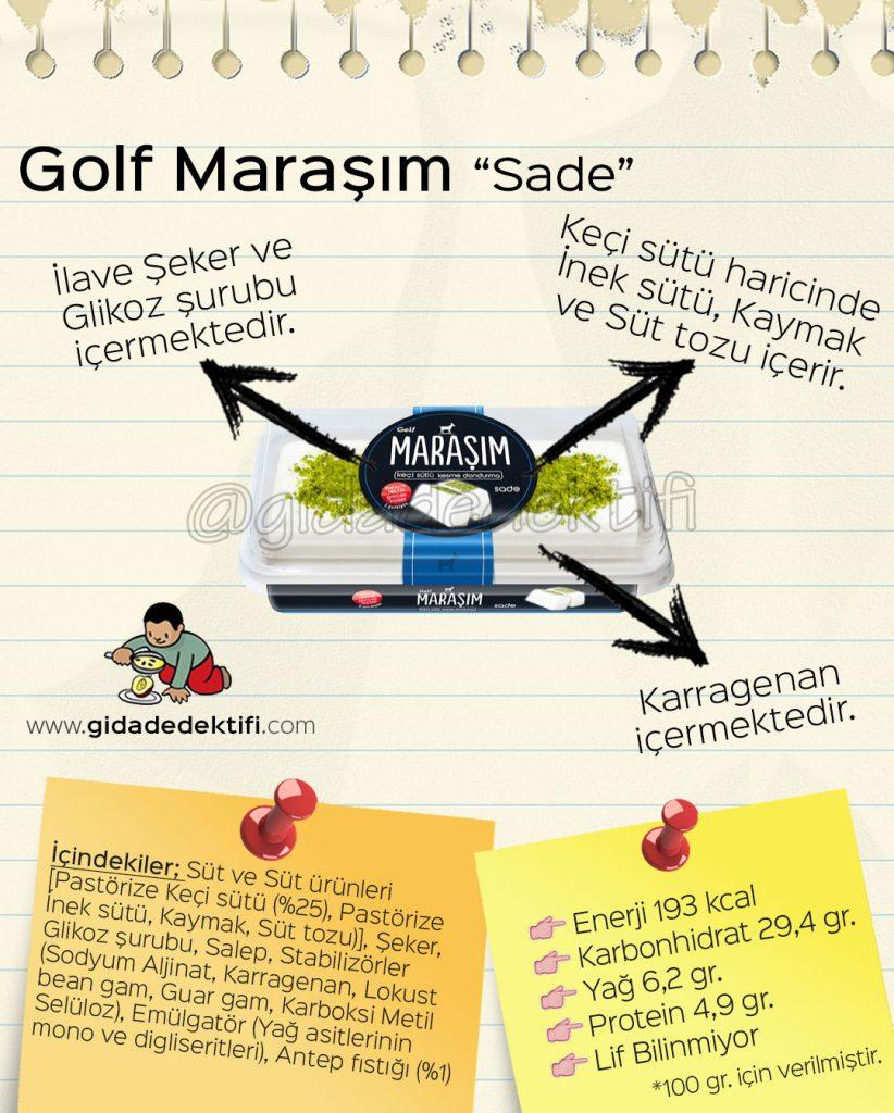 Golf Maraşım Sade Gida Dedektifi